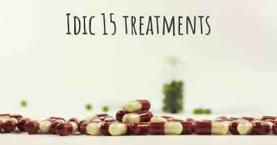 Idic 15 treatments