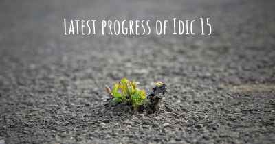 Latest progress of Idic 15