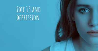 Idic 15 and depression