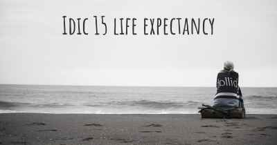 Idic 15 life expectancy
