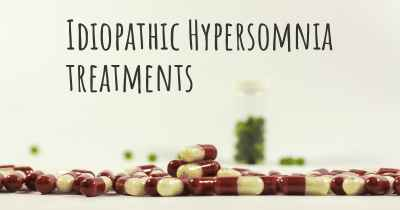 Idiopathic Hypersomnia treatments