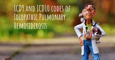 ICD9 and ICD10 codes of Idiopathic Pulmonary Hemosiderosis