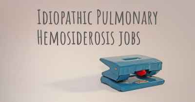 Idiopathic Pulmonary Hemosiderosis jobs