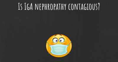 Is IgA nephropathy contagious?