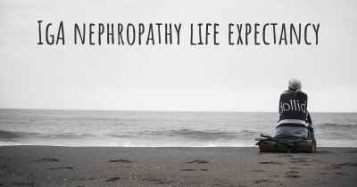 IgA nephropathy life expectancy