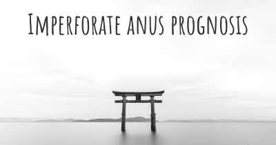 Imperforate anus prognosis