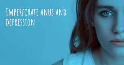 Imperforate anus and depression