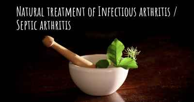Natural treatment of Infectious arthritis / Septic arthritis