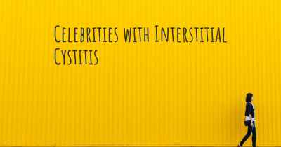 Celebrities with Interstitial Cystitis