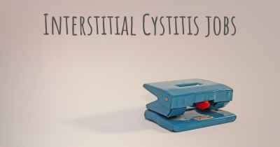 Interstitial Cystitis jobs