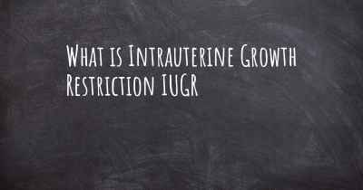 What is Intrauterine Growth Restriction IUGR