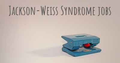 Jackson-Weiss Syndrome jobs