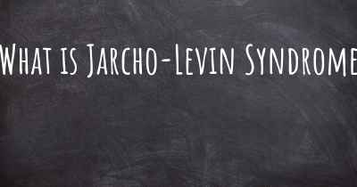 What is Jarcho-Levin Syndrome