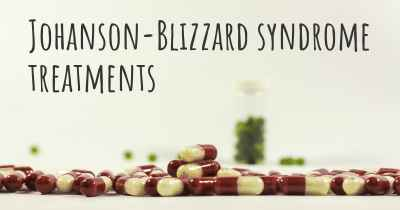 Johanson-Blizzard syndrome treatments