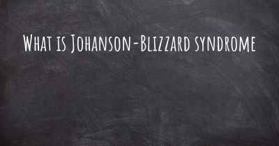 What is Johanson-Blizzard syndrome