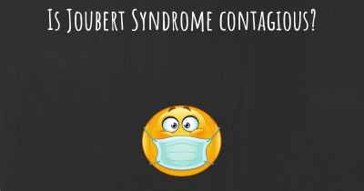 Is Joubert Syndrome contagious?