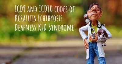 ICD9 and ICD10 codes of Keratitis Ichthyosis Deafness KID Syndrome