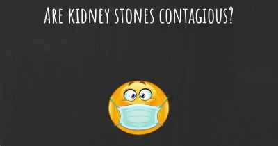 Are kidney stones contagious?