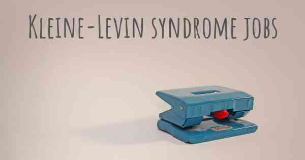 Kleine-Levin syndrome jobs