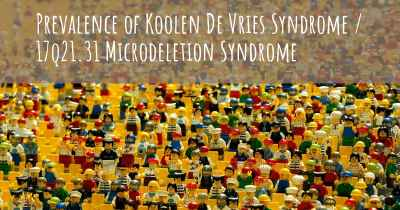 Prevalence of Koolen De Vries Syndrome / 17q21.31 Microdeletion Syndrome