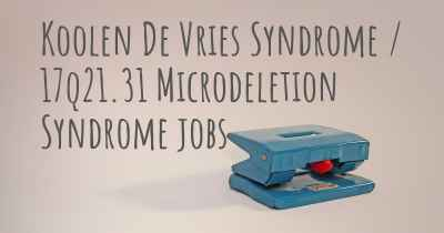 Koolen De Vries Syndrome / 17q21.31 Microdeletion Syndrome jobs