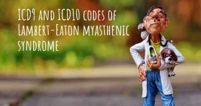 ICD9 and ICD10 codes of Lambert-Eaton myasthenic syndrome