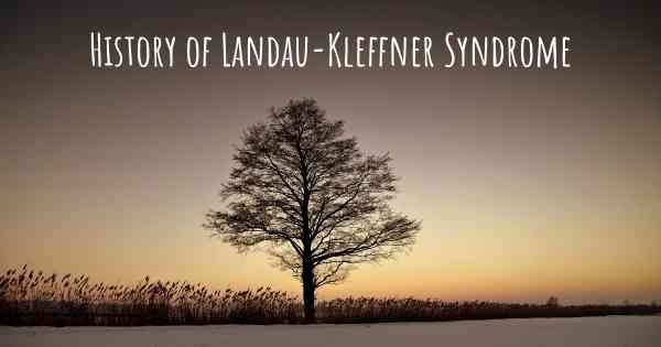 History of Landau-Kleffner Syndrome
