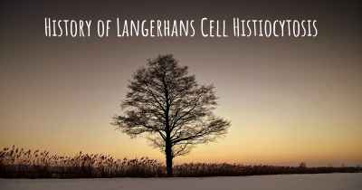 History of Langerhans Cell Histiocytosis