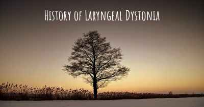 History of Laryngeal Dystonia