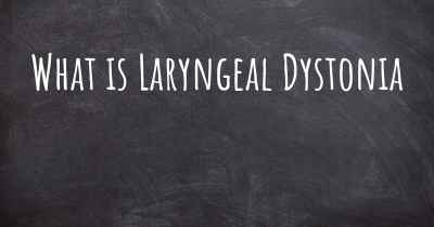 What is Laryngeal Dystonia