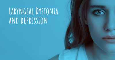 Laryngeal Dystonia and depression