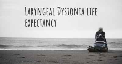 Laryngeal Dystonia life expectancy