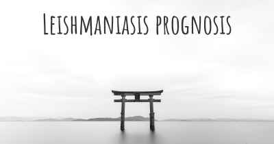 Leishmaniasis prognosis