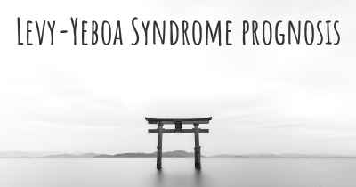 Levy-Yeboa Syndrome prognosis