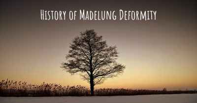 History of Madelung Deformity