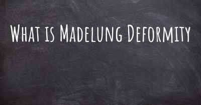 What is Madelung Deformity