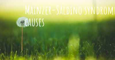 Mainzer-Saldino syndrome causes