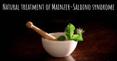 Natural treatment of Mainzer-Saldino syndrome