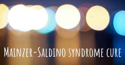Mainzer-Saldino syndrome cure