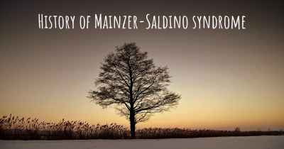 History of Mainzer-Saldino syndrome