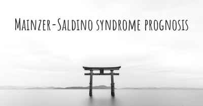 Mainzer-Saldino syndrome prognosis