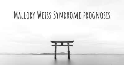 Mallory Weiss Syndrome prognosis