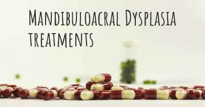 Mandibuloacral Dysplasia treatments