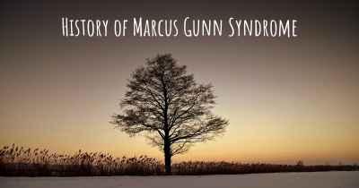 History of Marcus Gunn Syndrome