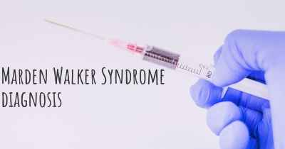 Marden Walker Syndrome diagnosis