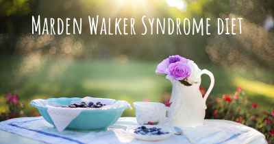Marden Walker Syndrome diet