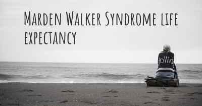 Marden Walker Syndrome life expectancy