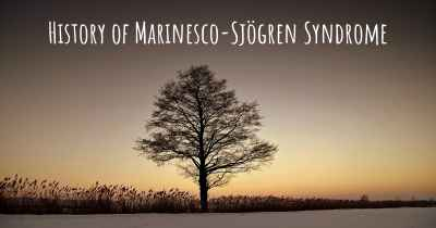History of Marinesco-Sjögren Syndrome