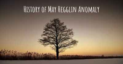 History of May Hegglin Anomaly