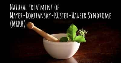 Natural treatment of Mayer-Rokitansky-Küster-Hauser Syndrome (MRKH)
